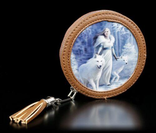 3D Münzgeldbörse mit Wölfen Winter Guardians Anne Stokes Fantasy Geldbeutel