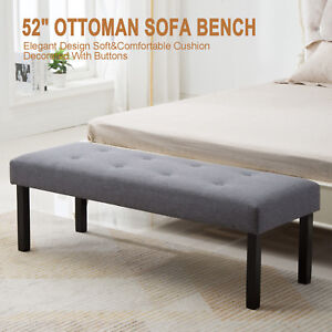 Image Is Loading 52 034 Accent Fabric Bench Bed End Ottoman