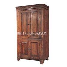 KraftNDecor Wooden Almira/Wardrobe/Cabinet in Brown Colour