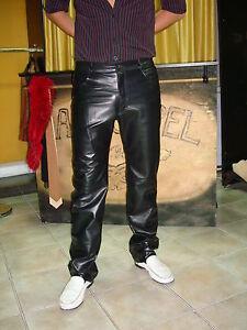 Uomo Pantaloni Ebay Pelle Pantaloni In EH29IWDY