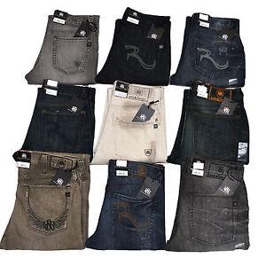 Rock-amp-Republic-Regular-Fit-Jeans-Mens-Straight-Stonewashed-Leg-Neil-Jean-New
