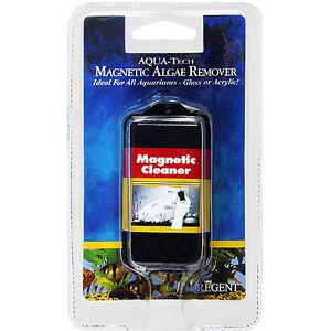 Aqua tech magnetic algae remover aquarium glass cleaner for Fish tank algae remover
