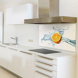 spritzschutzwand aus glas motiv zitrone f r ihre k che oder als bild ebay. Black Bedroom Furniture Sets. Home Design Ideas