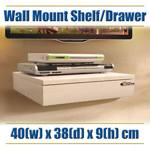 Modern Wall Shelf Mount Rack Unit - DVD, Blue-Ray, Set-Top, Foxtel ...