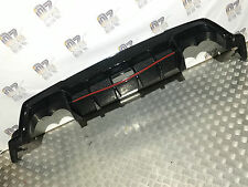 Honda Civic Type R 2015 2016 Parachoques Trasero Difusor Moldura Inferior Negro Brillante