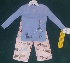 e56b60774 NEW Carter s 18 Month Toddler Girl 2-Piece Pajama Set--Dogs--Pink ...