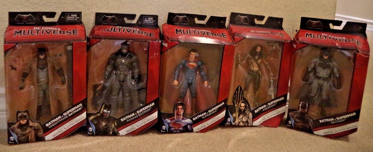 DC COMICS MULTIVERSE BATMAN AQUAMAN AQUAMAN AQUAMAN SUPERMAN ARMORED BATMAN+  6  FIGURE NEW 71cba6