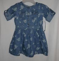 Genuine Kids Osh Kosh Girls Toddler Denim Jean Floral Print 18m 2t 4t