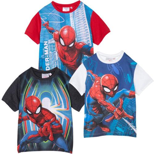 Spiderman Marvel Brand Boys Short Sleeve Cotton Tops T-Shirts T Shirt 2-8 Yrs
