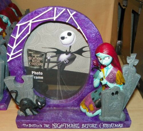 """NEW"" Disney NIGHTMARE Before Christmas SALLY & Cat PICTURE FRAME Purple"