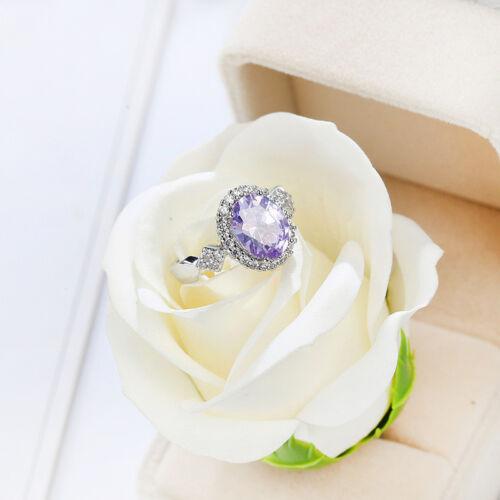Awesome Handmade Oval Cut Light Purple Amethyst Gemstone Silver Ring  Size 6-10