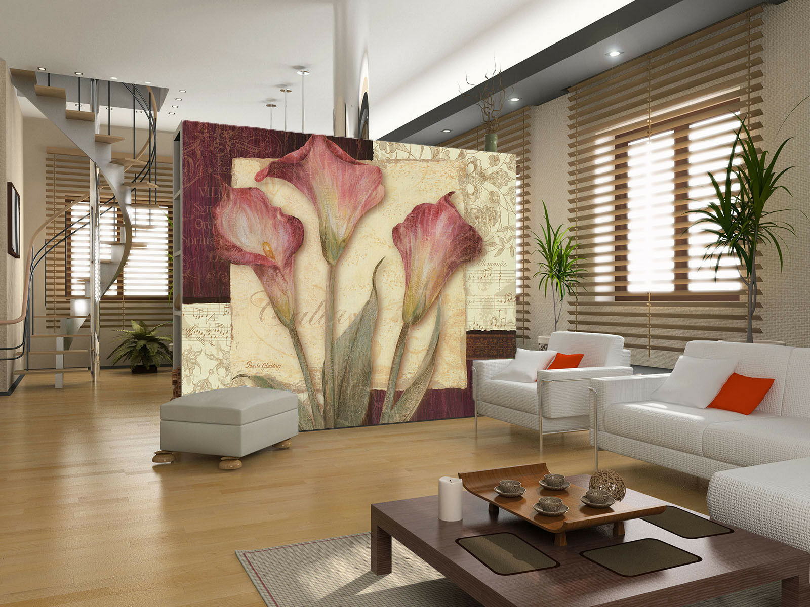 3D Calla Flower Retro 4 Wall Paper Wall Print Print Print Decal Wall Deco Indoor Mural Carly 1aa553