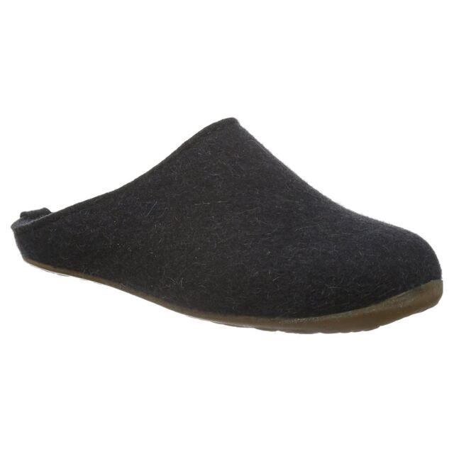 dfcd2fefdf5 Haflinger Everest Fundus Graphite Womens Wool Clogs Slip-on Open Back  Slippers