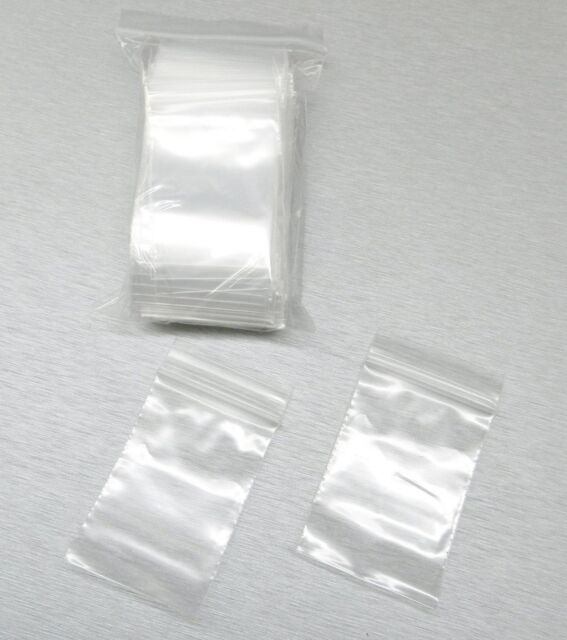 "100 2""x3"" Ziplock Bags Clear 2mil Small Poly Bag Reclosable Bags Plastic Baggies"