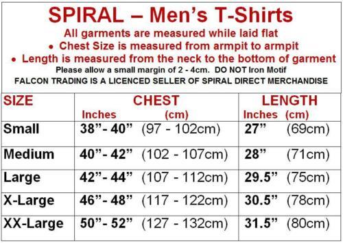 Spiral Direct BONE FINGER Mens T-Shirt Top Goth//Rock//Biker//Reaper//Metal//Tattoo