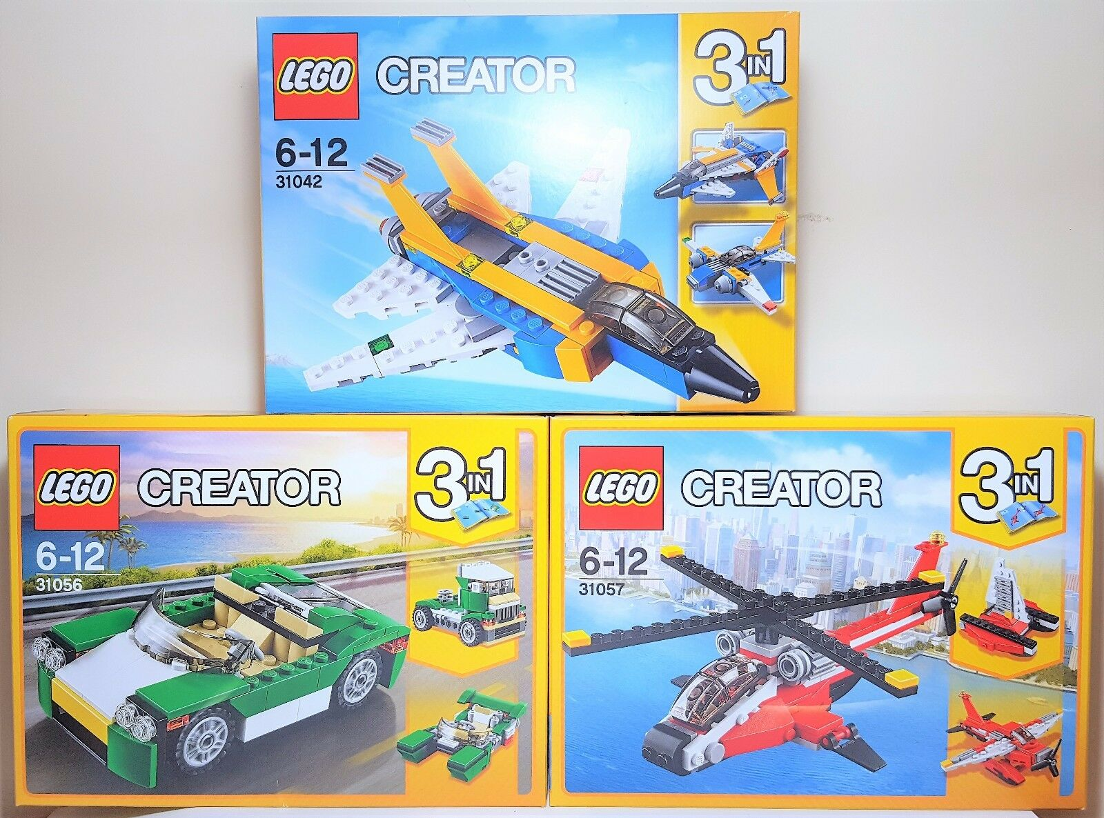 Lego 3 in 1 Lot of 3 Creator Set 31056 31057 31042 Brand New