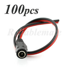 100 PCS 12V 5.5x2.1mm Female DC Power Socket Jack Connector Cable Plug Wire CCTV