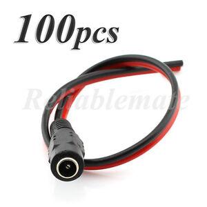 100 pcs 12v 5 5x2 1mm female dc power socket jack connector cable rh ebay com