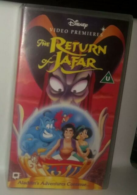 MINT * 1995 * DISNEY PREMIERE * The Return Of Jafar (VHS, 1995) STORED FROM NEW