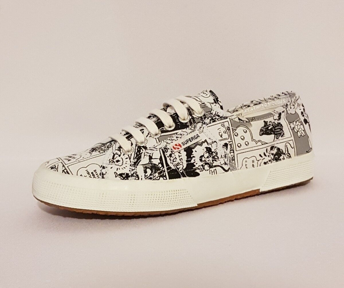 SUPERGA CARTOON 2750 DISNEY COMIC 1 COTU F90 COMICS WEISS SKATE TRAINERS SNEAKER