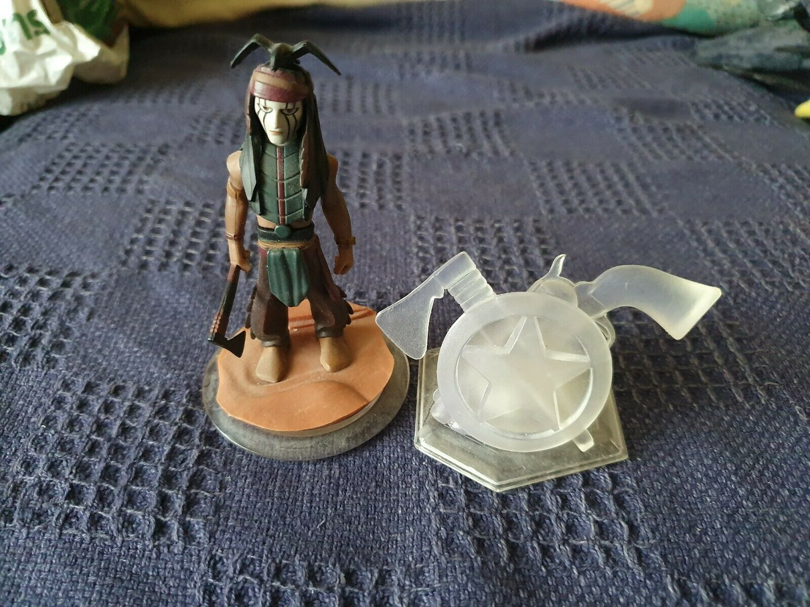 Disney Infinity Lone Ranger Set Piece And Tonto Figure