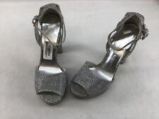 Stuart Weitzman Hijinx Silver Noir Platform Sandals Size 9m H946/ Heels Women's Shoes