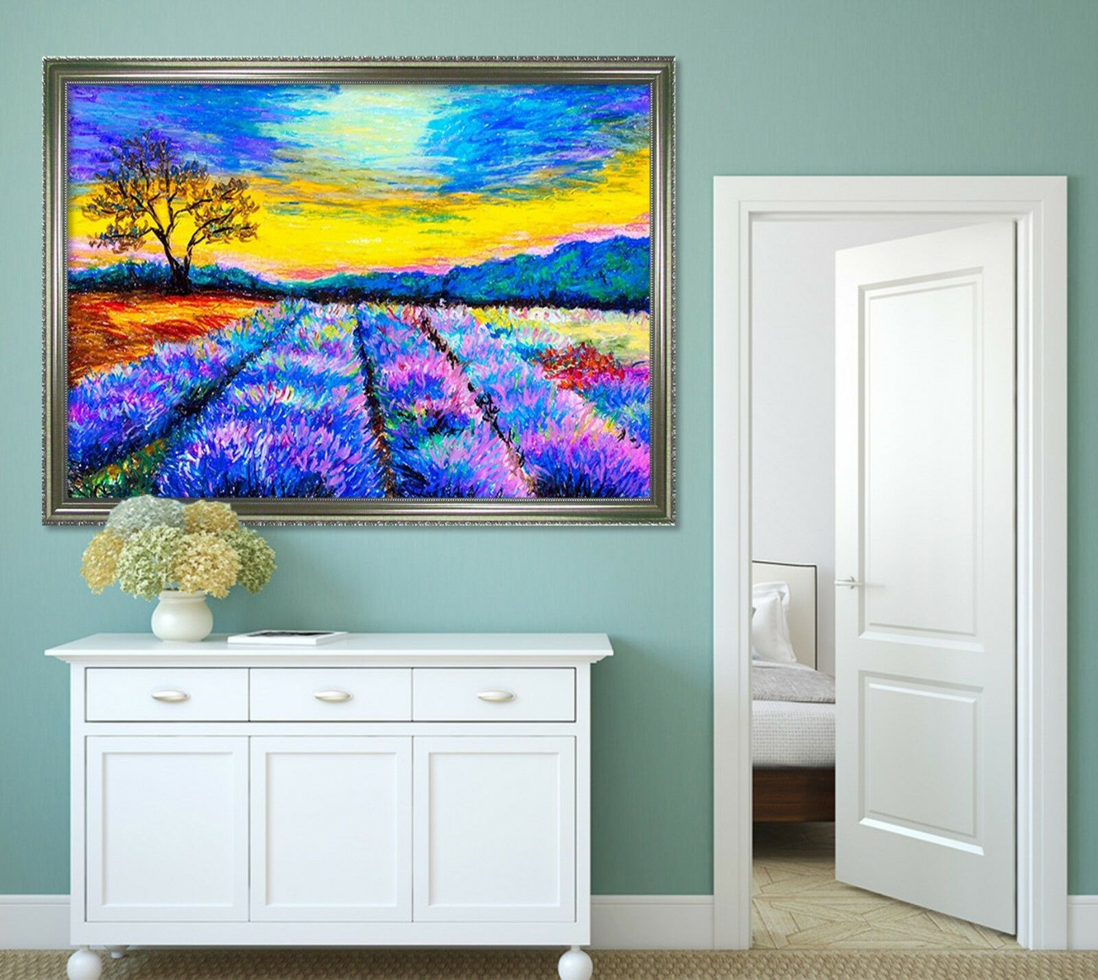 3D Paint Flower 6 Fake Framed Poster Home Decor Print Painting Unique Art Summer