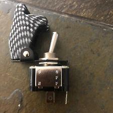 Toggle Switch 12v Dc Black Flip Safety Cover 20a 12v