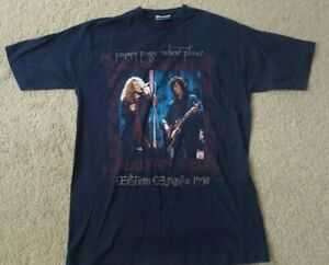 Vintage-Jimmy-Page-Robert-Plant-Eastern-Europe-1998-Zoso-Tour-t-shirt-Metal