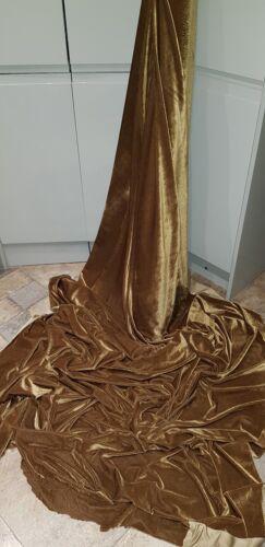 VELVET dress  FABRIC 58 INCES WIDE 1m  ANTIQUE GOLD STRECH VELOUR