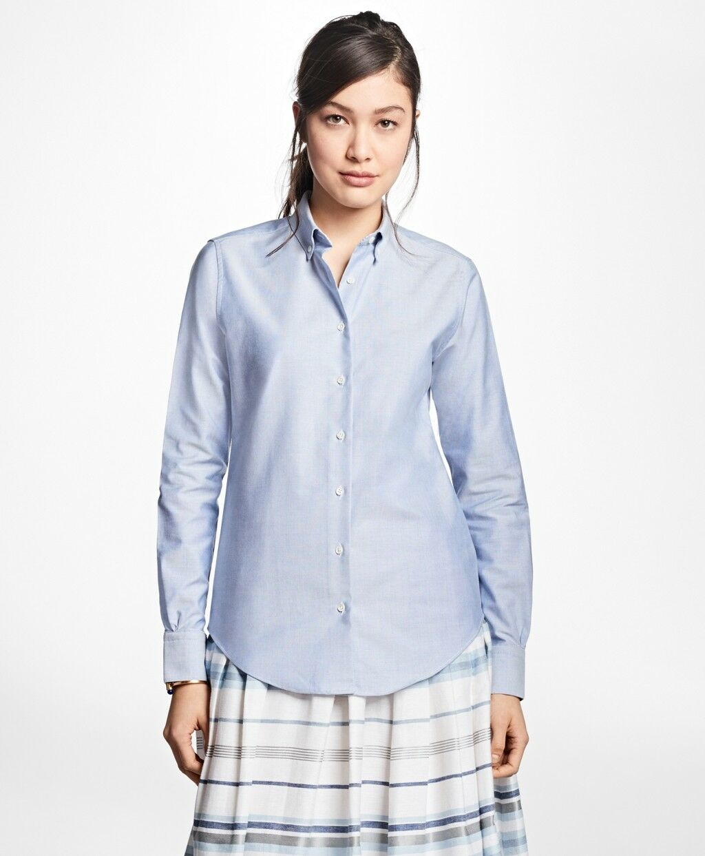 BROOKS BROTHERS Classic Fit damen's Supima Cotton Shirt   Größe 2   Blau