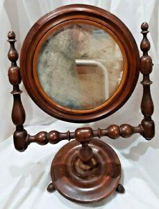 Antique Victorian Table Top Tilt Adjustable Mirror