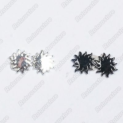Spikey Sun Magnet Stud Earrings - Magnetic Mens Womens Fashion - NEW