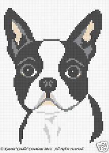 JACK RUSSELL TERRIER dog Graph Afghan Pattern Chart Crochet Patterns