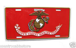 Vietnam Veteran Gold Wreath Band Embossed Metal License Plate Auto 6 x 12 inches