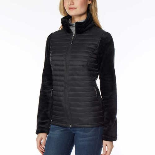 32 Degrees ladies/' Mixed Media Plush Jacket