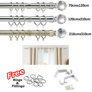 Diamond-Extendable-Metal-Curtain-Poles-28mm-Includes-Finals-Rings-Fittings-DCUK