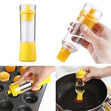 Oil Brush Bottle Set Silicone Cooking Baking Basting BBQ Pancake Kitchen Tool