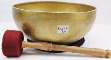 "E676 Energetic 'A#' Chakra Healing Hammered Tibetan Singing Bowl 10.25"" MI Nepal"