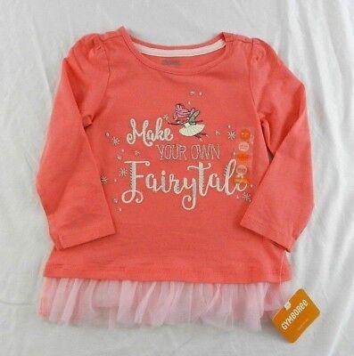 NWT Gymboree Girls Fairytale Forest Gray Ruffle Turtleneck 6-12 12-18 /& 18-24 M