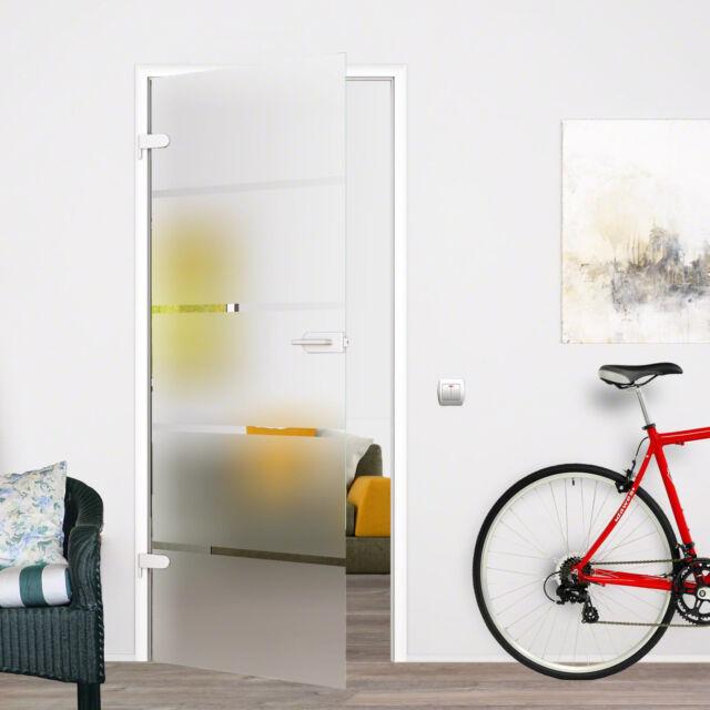 Glastür Glas Innentür Zimmertür Tür Ganzglastür 8mm ESG 709x1972 P1709SSL