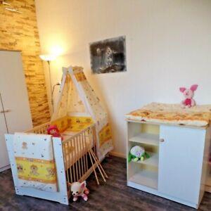 Babyzimmer Komplett Wickelkommode Babybett Set 5 Farben 70 x 140 Umbaubar weiß