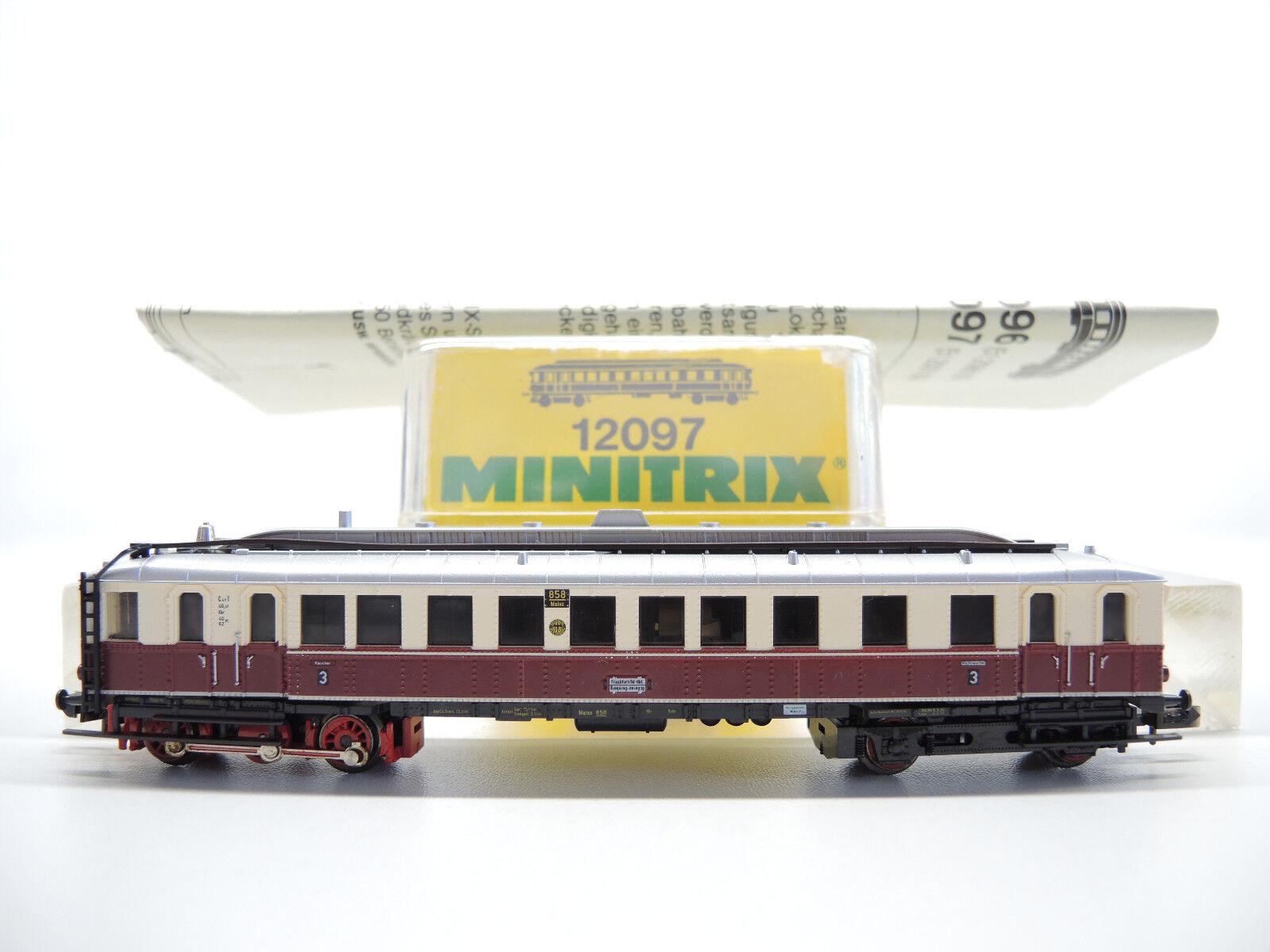 Minitrix Minitrix Minitrix 12097 Motore Diesel auto VT 858 Magonza della DRG molto bene OVP 7e7b12