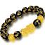thumbnail 68 - Men-Fashion-Black-Lava-Stone-Gold-amp-Silver-Lion-Beaded-Cuff-Charm-Bangle-Bracelet