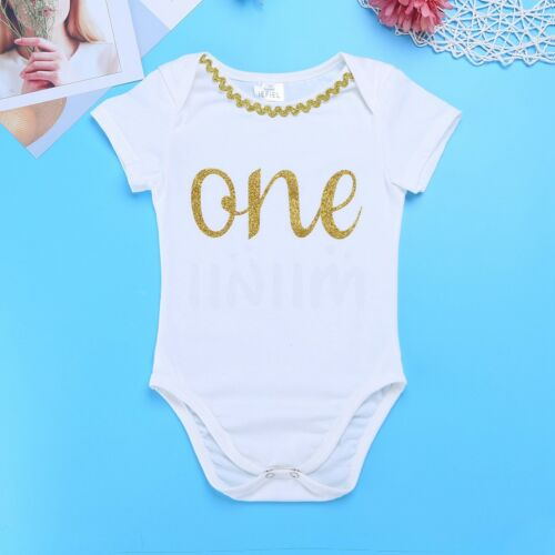 baby girls 1st birthday one year party romper bodysuit tutu skirt dress outfits