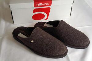 Rohde Hausschuhe Pantoletten Softfilz Gr. 40 Braun leicht gut für die Reise