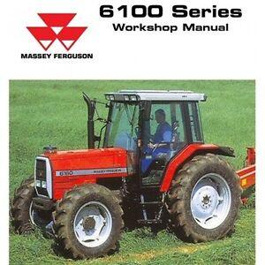 Massey Ferguson 6110 6120 6130 6140 6150 6160 6170 6180 6190 Service Manual CD