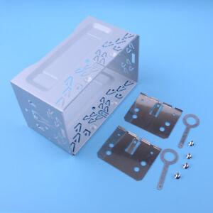 DOPPEL-2DIN-Auto-Metall-Rahmen-Einbauschacht-Radioblende-Einbaurahmen-Autoradio