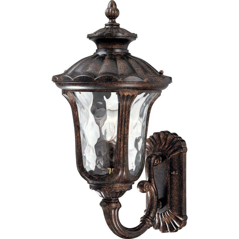 Volume Lighting 1-Light Vintage Bronze Outdoor Wall Mount