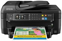 Epson Wf-2760 All-in-one Wireless Color Printer With Scanner Copier Fax Ethernet